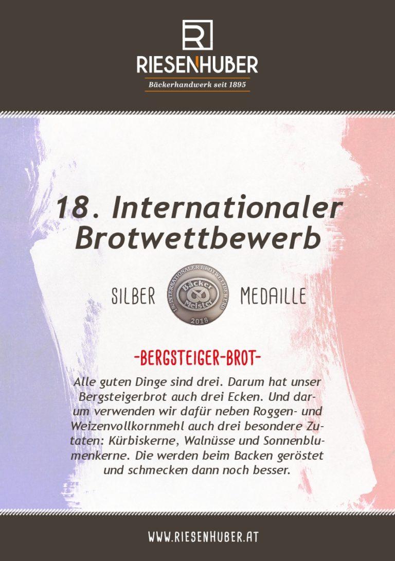 Bergsteigerbrot Silber Medaille