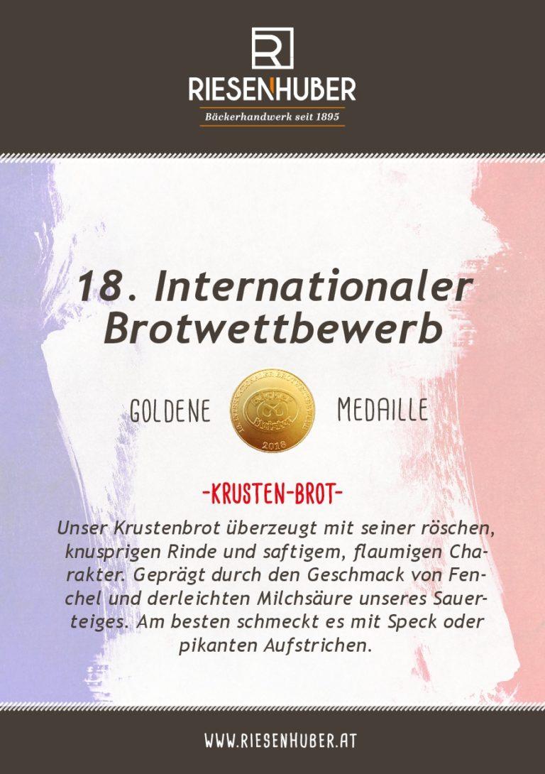 Krustenbrot Gold Medaille